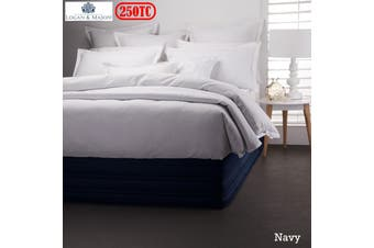 Easy Fit Valance Navy X LONG SINGLE