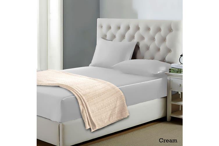 Alpine Blanket Cream Single