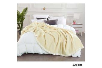 Australian Merino Wool Blanket Cream by Alastairs