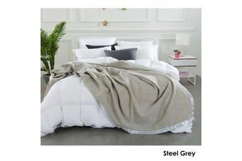 Australian Merino Wool Blanket Steel Grey by Alastairs