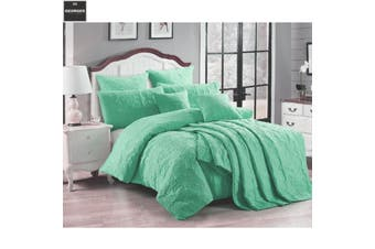 Pair of Marguerite Wave Green European Pillowcases