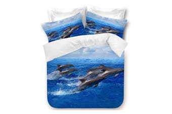 Dolphins Quilt Cover Set DOUBLE