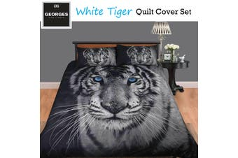 White Tiger Quilt Cover Set SINGLE
