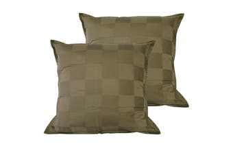 Pair of Dominic Olive European Pillowcases by Orient Sense