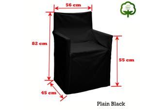 Alfresco 100% Cotton Director Chair Cover - Plain Black