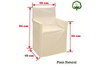 Alfresco 100% Cotton Director Chair Cover - Plain Natural