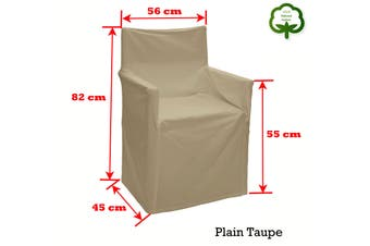 Alfresco 100% Cotton Director Chair Cover Plain Taupe by Rans