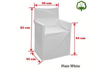 Alfresco 100% Cotton Director Chair Cover Plain White by Rans