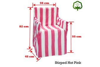 Alfresco 100% Cotton Director Chair Cover - Striped Hot Pink