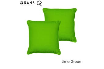 Set of 2 London Cotton Cushion Cover Lime Green by Rans