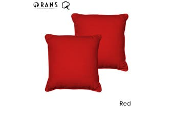 Set of 2 London Cotton Cushion Cover Red by Rans