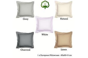 Paris Cotton Waffle Cushion Cover White 60x60+5 cm by Jenny Mclean
