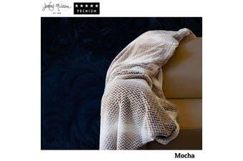 Chevron Plush Throw Mocha by Jenny Mclean