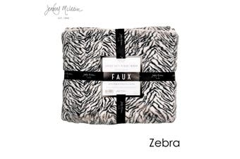 Cosy Faux Throw Zebra by Jenny Mclean