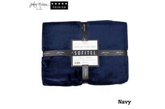 Sofitel Plush Throw Navy by Jenny Mclean