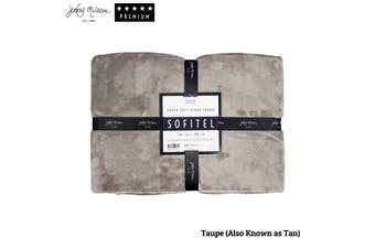 Sofitel Plush Throw Taupe (Also Known as Tan) by Jenny Mclean