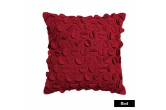 Petal Filled Cushion RED by Rapee