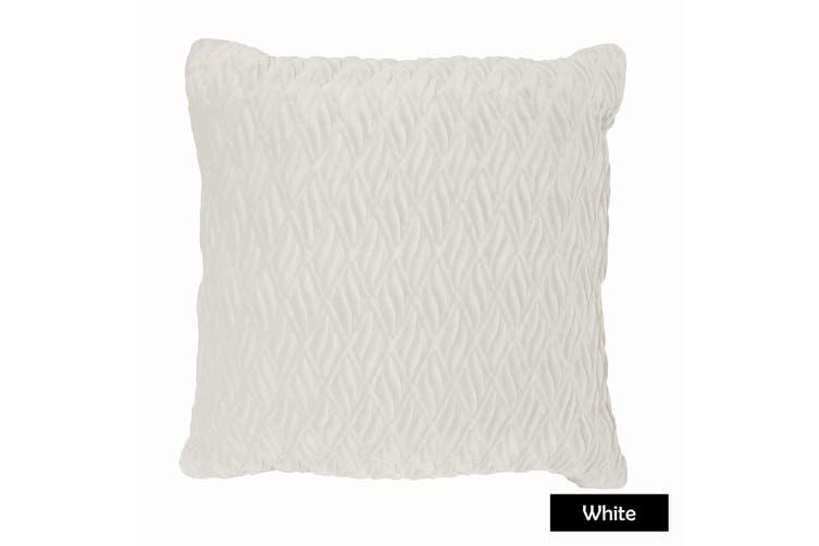 Pietra Filled Cushion - White