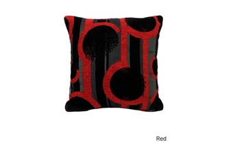 Labyrinth Texture Cushion Cover Red by Rapee