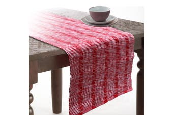 Quality Table Runner Tinsel - Red
