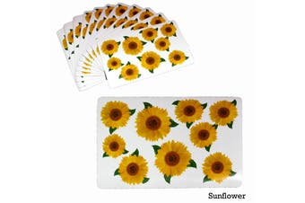 Set of 12 PVC Easy Care Placemats Sunflower