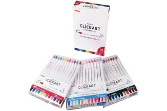 Zebra ClickArt (Click Art) Retractable marker pen 36 colour set