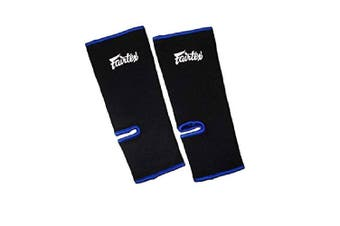 FAIRTEX - Ankle Support Guards (AS1)[Colour:Black W/Blue Piping]