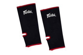 FAIRTEX - Ankle Support Guards (AS1)[Black W/Red Piping]