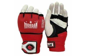 MORGAN Muay Thai Boxing Boxing Injected Hand Wraps [Red Medium]