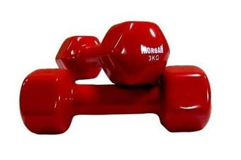 MORGAN Vinyl Dumbbells - Pair [3Kg Pair]