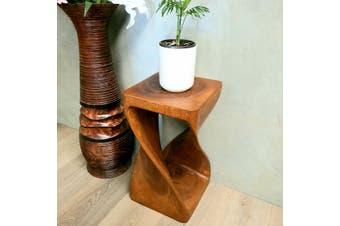 Raintree Wood Side Table/Corner Table/Plant NB Finish