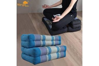 3-Fold Zafu Meditation Cushion Set Blue