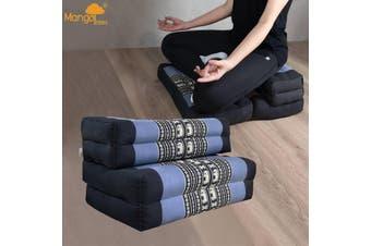 3-Fold Zafu Meditation Cushion Set BlueEle