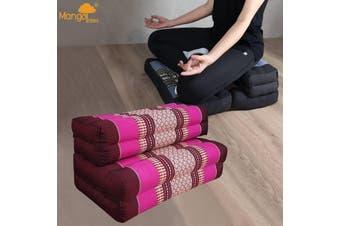 3-Fold Zafu Meditation Cushion Set Pink