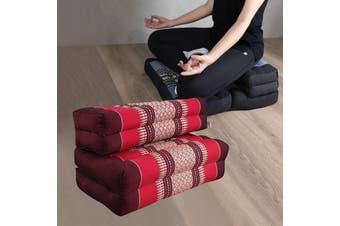 3-Fold Zafu Meditation Cushion Set Red