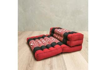 3-Fold Zafu Meditation Cushion Set Red-Ele