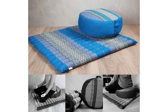 Foldable Zafu & Zabuton Meditation Cushion Set Filled with Organic Kapok Fibre