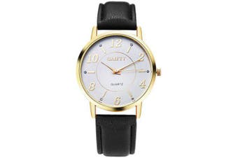GAIETY G063 Ladies Casual Leather Watch- Black