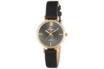 SYNOKE 3621 Simple Fashion Ladies Quartz Watch- Black