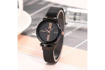 Magnet Strap Creative Ladies Watch- Black