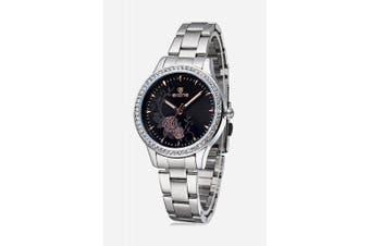 SKONE 1199 Fashion Lady Quartz Watch- Black