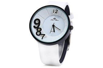Feifan 62070 Colorful Leather Band Lady Quartz Watch- White
