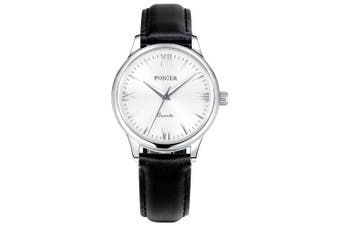 POSCER Lady Quartz Waterproof Strap Watch 50009- White