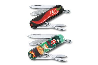 2pc Victorinox Classic Army Swiss Knife Pocket Tool Chili Peppers Swiss Mountain