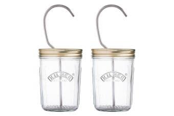 2x Kilner Mayonnaise & Sauce 350ml Glass Preserve Jar Set Maker Canister Storage