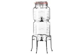 Kilner Stackable 2L 3L Drinks Dispenser Water Beverage Drink Jar w  Stand Clear
