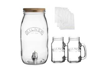 Kilner 3L Kombucha Drink Maker & 400ml Glass Jars Making Set Dispenser w  Lid