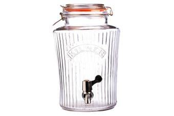Kilner 5L Vintage Drinks Dispenser Clip Top Glass Jar for Water Party Event