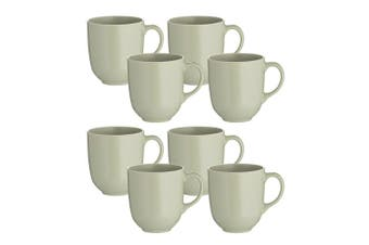 8pc Mason Cash 400ml Classic Stoneware Mugs Coffee Tea Hot Drink Home Cup Green