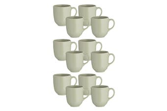 12pc Mason Cash 400ml Classic Stoneware Mugs Coffee Tea Hot Drink Home Cup Green